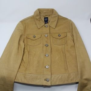 GAP ICON Nubuck Leather Jean Style Jacket UNISEX